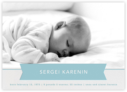 Ribbon Banner - Bondi - Paperless Post - Birth Announcements