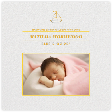 Square Centered - (Yellow) - Paperless Post - Birth Announcements