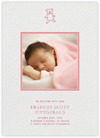 Square Frame - Vertical (Red) - Paperless Post - Birth Announcements