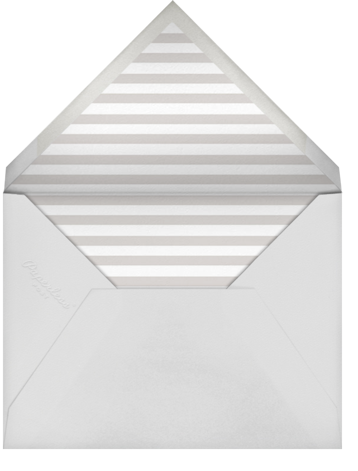 Square Frame - Horizontal (Gray) - Paperless Post - Birth - envelope back