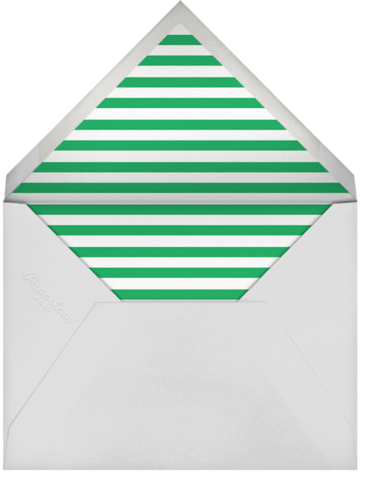 Rounded Corners - Emerald - Paperless Post - Birth - envelope back