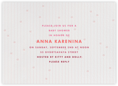 Star Showers - Pink - Paperless Post - Baby Shower Invitations