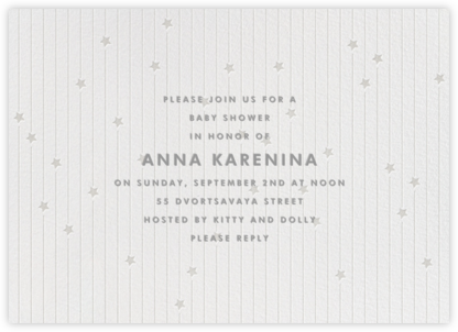 Star Showers - Silver - Paperless Post - Baby Shower Invitations