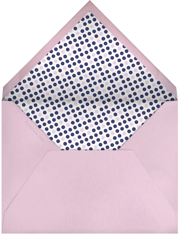 Dropstitch - Blush and Royal Blue - Paperless Post - Kids' stationery - envelope back