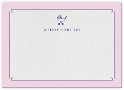 Dropstitch - Blush and Royal Blue - Paperless Post - Stationery