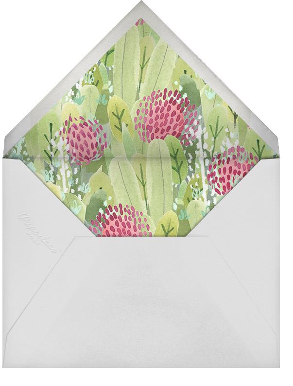 Floral Hedge - Paperless Post - Baby shower - envelope back