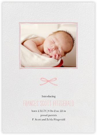 Organic Border - Blossom - Paperless Post - Birth announcements