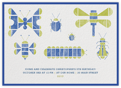 Insect Collection - Paperless Post - Kids' Birthday Invitations