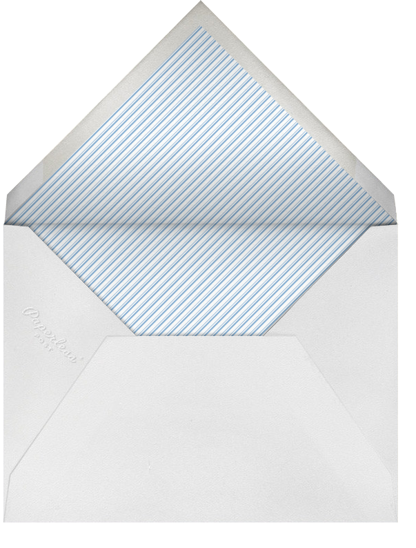 Dotted Band - Paperless Post - Baptism  - envelope back