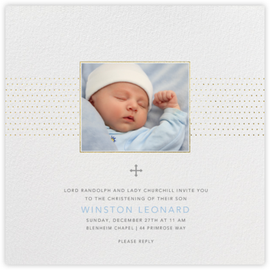 Dotted Band - Paperless Post - Christening Invitations
