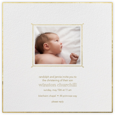 Traditional Frame - Paperless Post - Christening Invitations