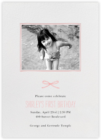 Organic Border - Blossom - Paperless Post - First Birthday Invitations