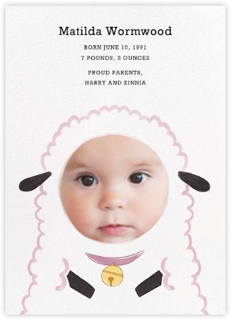 Baby Lamb - Girl - Paperless Post -