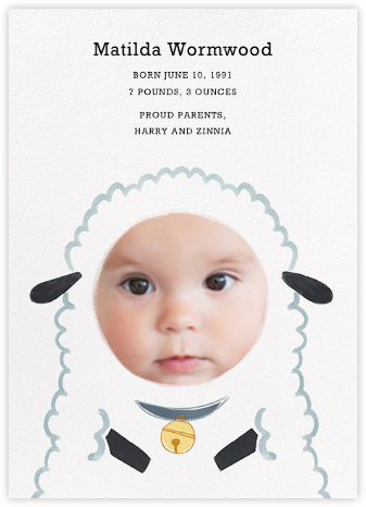 Baby Lamb - Boy - Paperless Post -