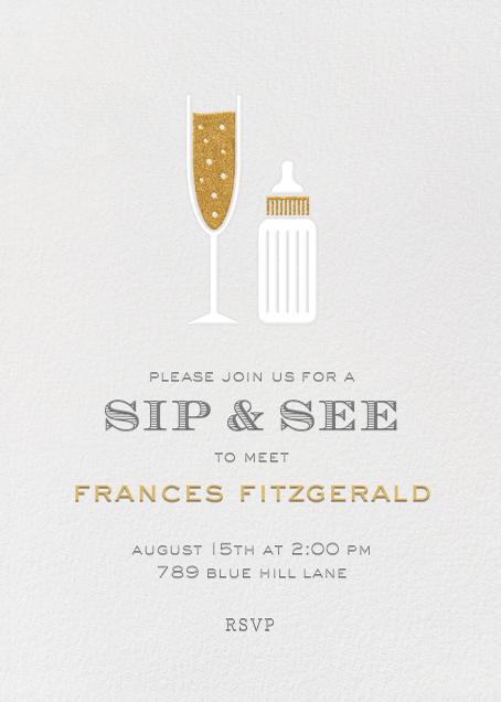 Sip & See - Paperless Post - Celebration invitations