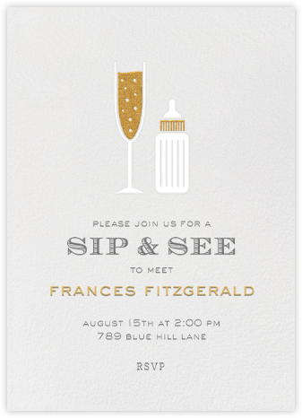 Sip & See - Paperless Post - Baby Shower Invitations