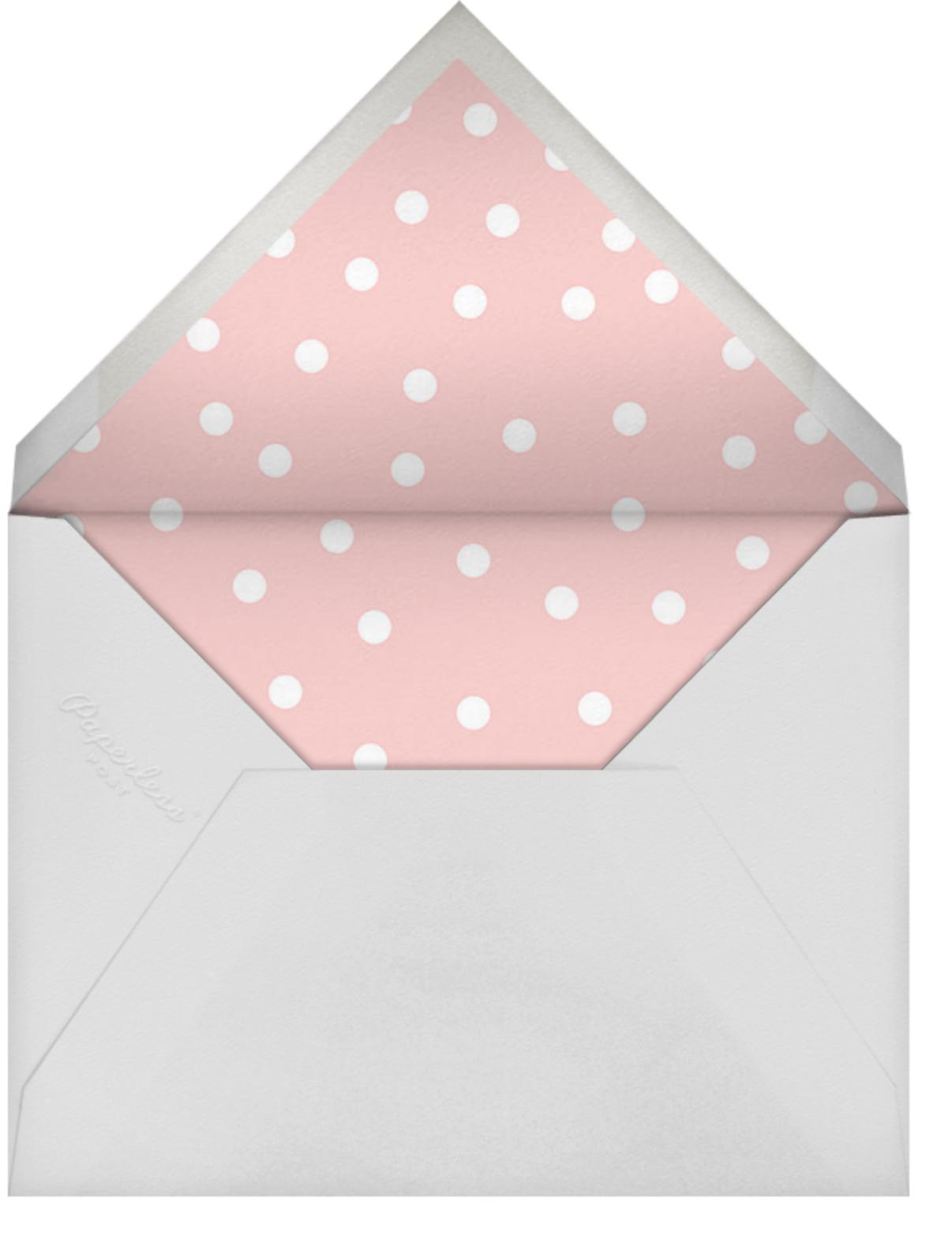Pink dots - Linda and Harriett - Bridal shower - envelope back