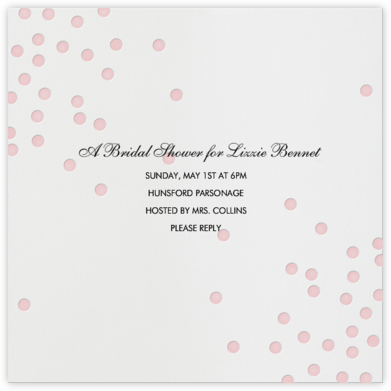 Pink dots - Linda and Harriett - Bridal shower invitations