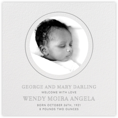 Peekaboo - Gray - Paperless Post - Birth Announcements