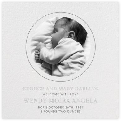 Peekaboo - Gray - Paperless Post - Birth Announcements