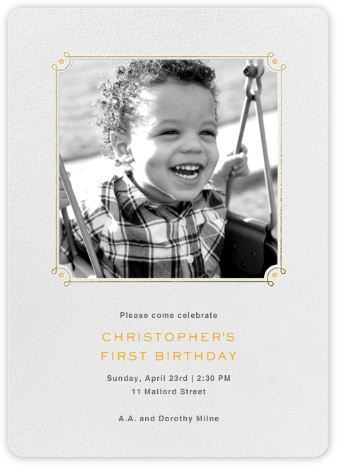 Nursery Rhyme - Paperless Post - First Birthday Invitations