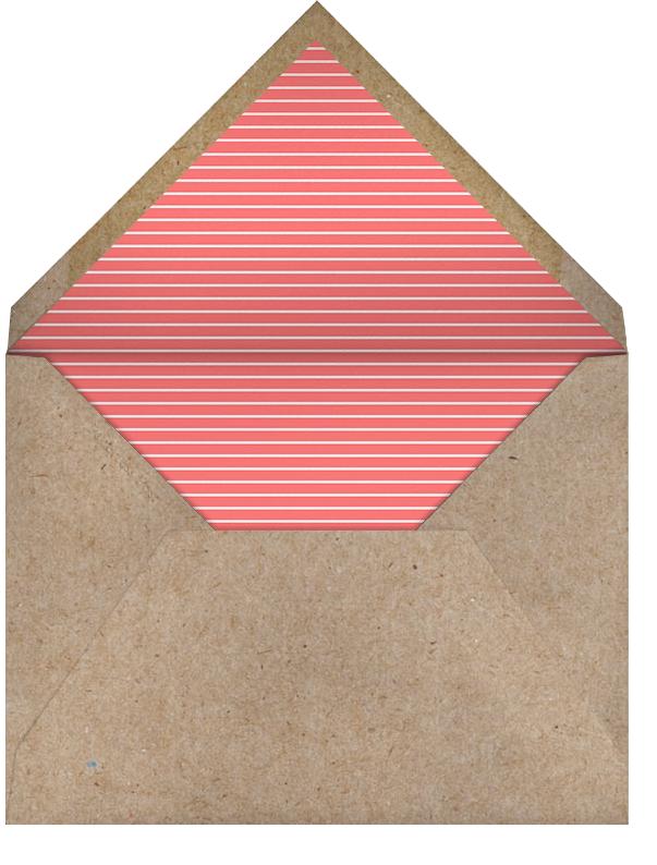 Ribbon Banner - Coral  - Paperless Post - 1st birthday - envelope back