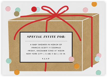 Gift Box - Confetti - Paper + Cup - Paper + Cup Invitations