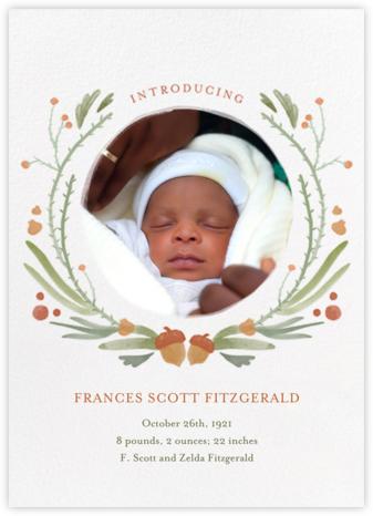 Bramble Garland - Paperless Post - Birth Announcements