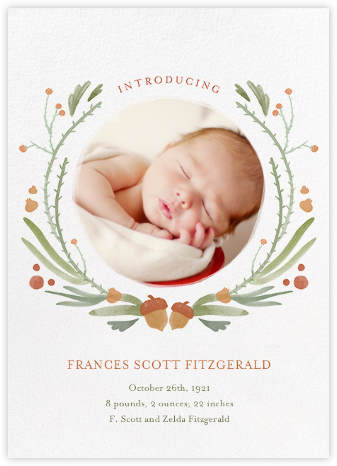 Bramble Garland - Paperless Post - Birth announcements