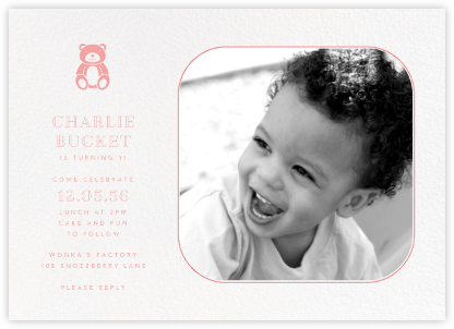 Rounded Corners - Blossom - Paperless Post - First Birthday Invitations