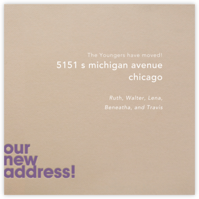 Our New Address - Paperless Post -