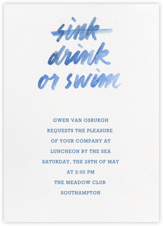 Drink Or Swim - Paperless Post - Pool Party Invitations