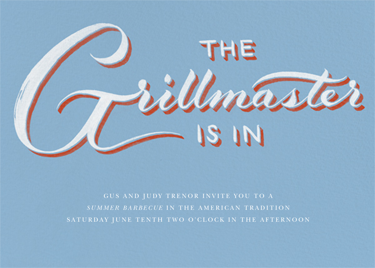 Grillmaster - Blue - Paperless Post -