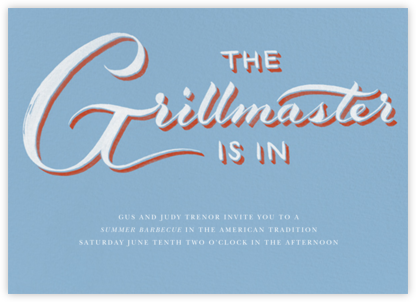 Grillmaster - Blue - Paperless Post - Summer entertaining invitations
