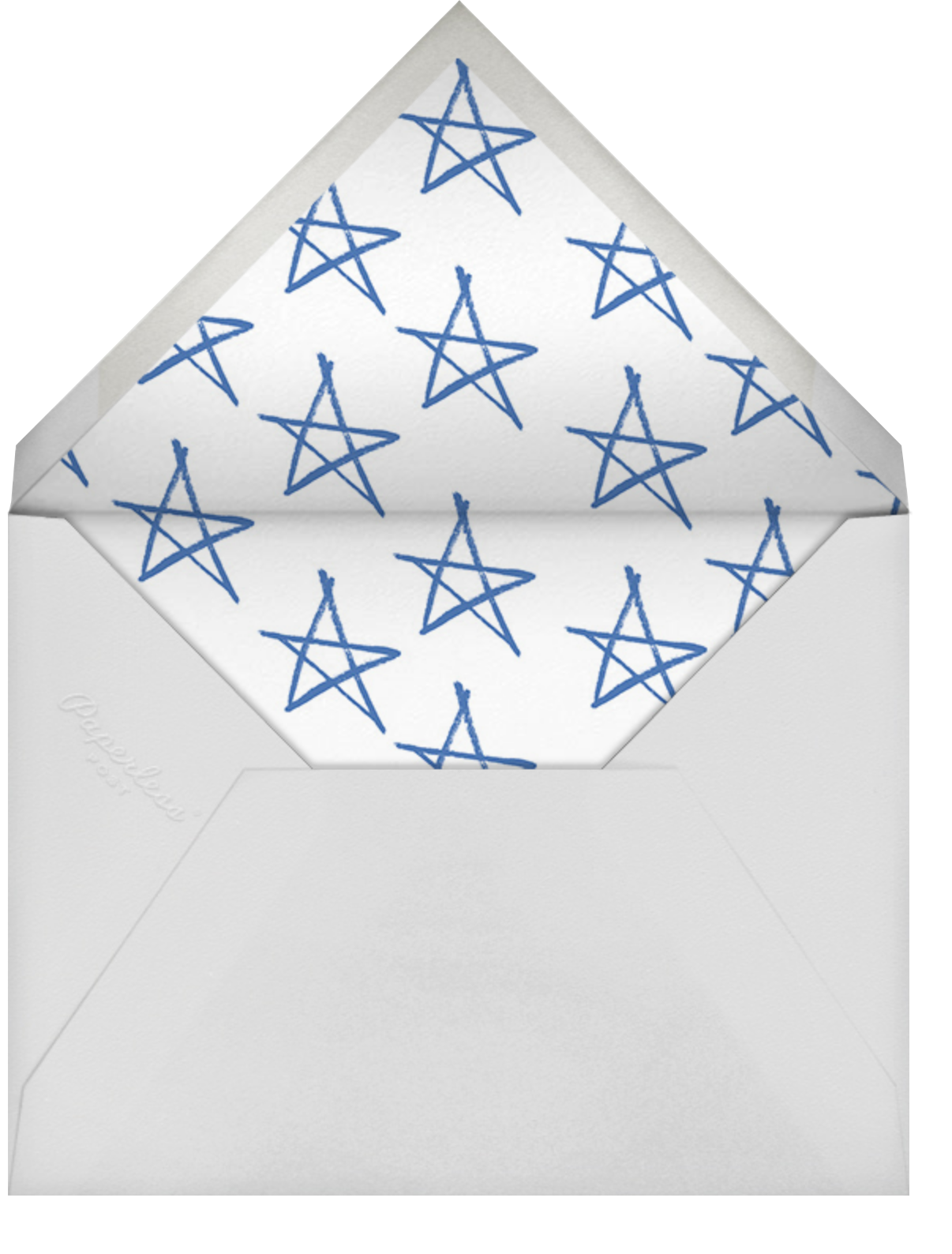 USA - Blue - Paperless Post - 4th of July - envelope back