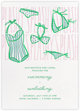 Splashy Splashy - Paperless Post - Pool Party Invitations