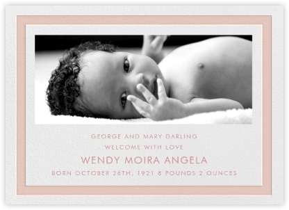 Bandwidth - Antique Pink - Paperless Post - Birth announcements