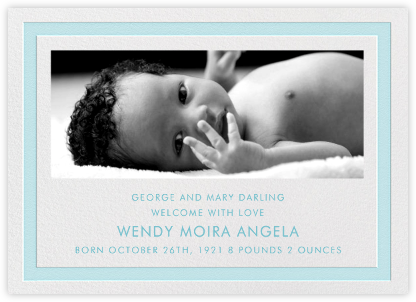 Bandwidth - Light Blue - Paperless Post - Birth Announcements