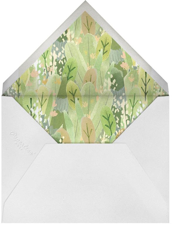 Leaf Hedge - Paperless Post - Birth - envelope back