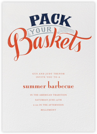 Pack Your Baskets - Paperless Post - Summer Party Invitations