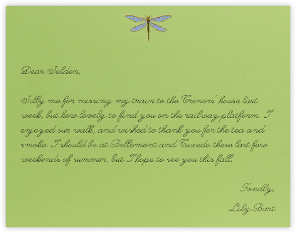 Dragonfly (Charterhouse) - Paperless Post - Personalized Stationery