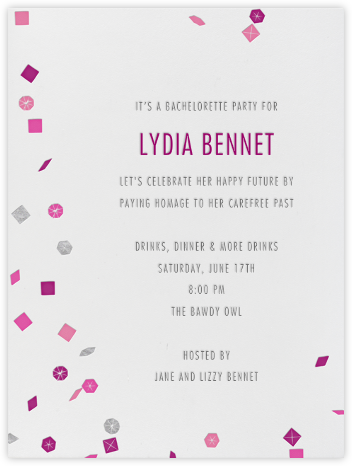 Confetti - Paperless Post - Bachelorette Party Invitations
