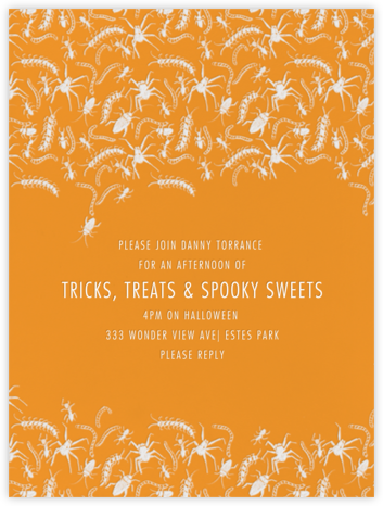 Creepy Crawlers - Paperless Post - Halloween invitations
