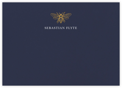 Bumble Bee - Navy - Paperless Post - Personalized Stationery