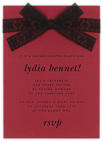 Bois de Boulogne - Paperless Post - Bachelorette Party Invitations