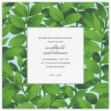 Hedge - Oscar de la Renta - Dinner party invitations
