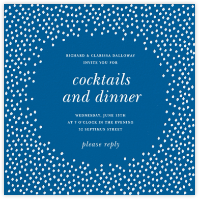 Ikat Dot - Indigo - Oscar de la Renta - General Entertaining Invitations