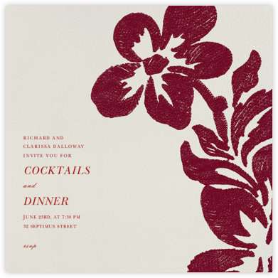 Flora - Ruby - Oscar de la Renta - Dinner party invitations