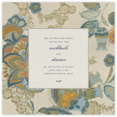 Arcadia - Indigo Ivory - Oscar de la Renta - Fall Entertaining Invitations