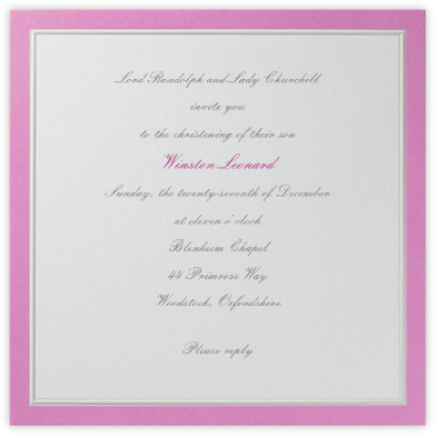 Grasse (Pink) - Paperless Post - Baptism invitations